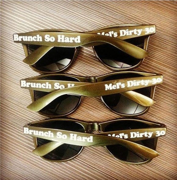 Stag Party | Stag Night | Mens Customized Sunglasses (Fonts in Picture Gallery)