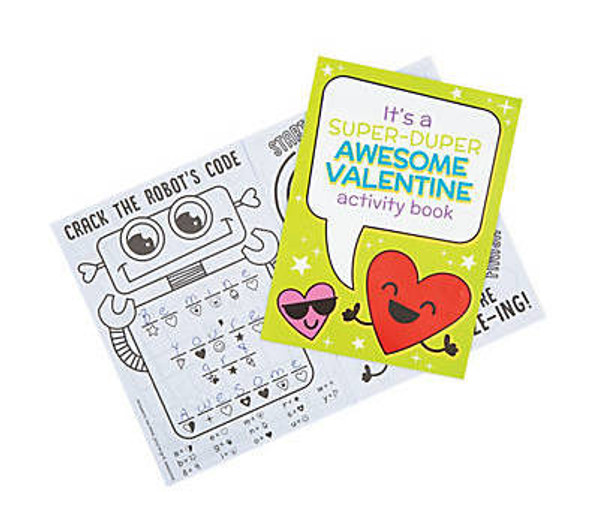 Valentines Day Activity Books |  12 PACK 20004