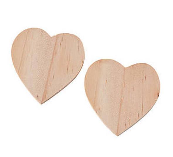 "Wood Mini Hearts | Design Your Own | 50 PCS 2"" 20006"