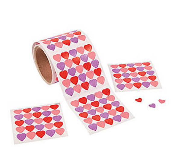 Valentines Day Sticker Rolls | 1000 PCS | 20009