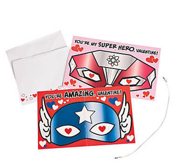 Superhero Valentines Day Cards   24 PACK 20010