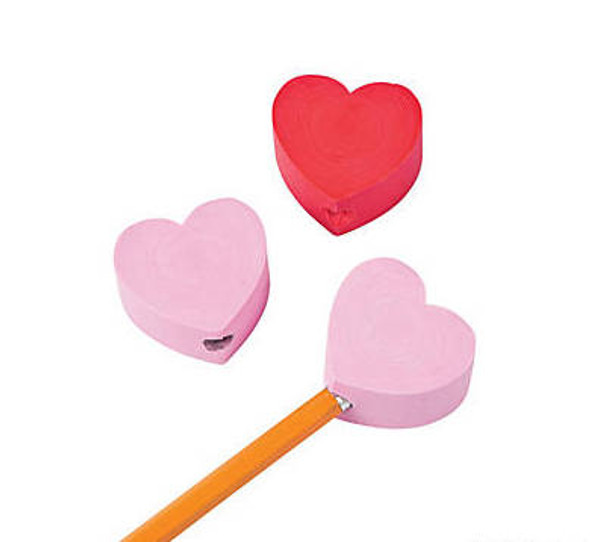 Heart Pencil Toppers |  12 PACK 20015
