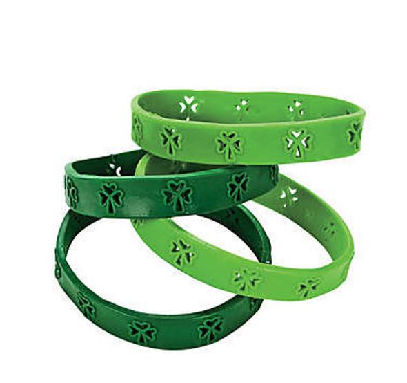 Irish Shamrock Bracelets | Rubber 72 PACK 3086