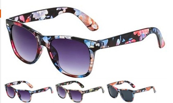 Flower Sunglasses Adult 12 PACK