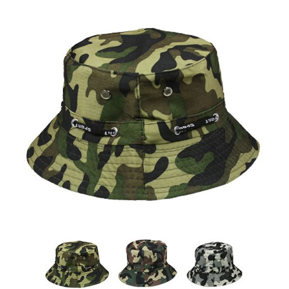 12 PACK BUCKET HATS MICRO ABSORBENT VENTED MIX CAMOFLAUGE 22.5 Standard Adult5820C