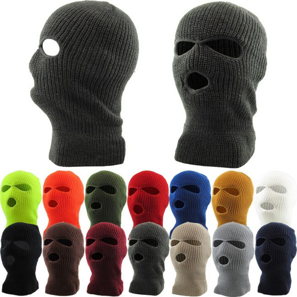 Three Hole Ski Mask - 10+ COLORS 3059ALL