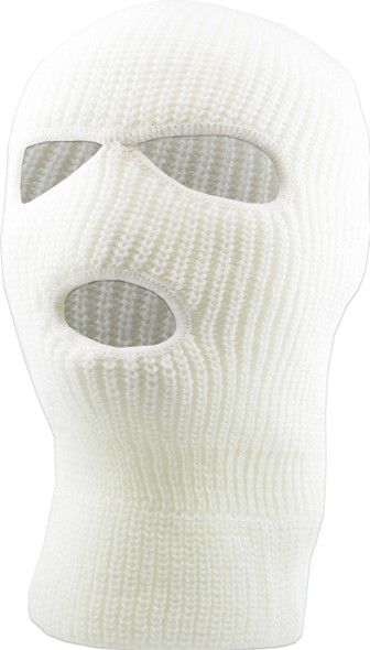 Three Hole Knit Ski Mask   - WHITE 3061W