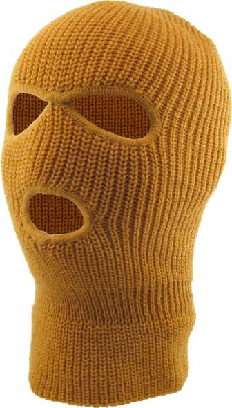 Three Hole Knit Ski Mask- CAMEL 3061C
