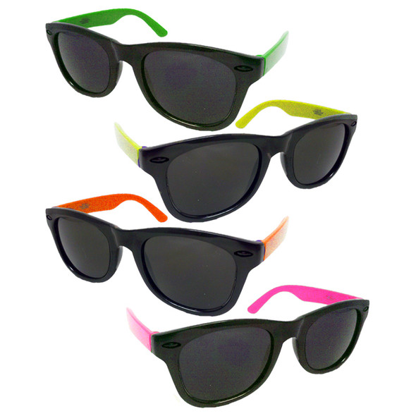 24 PACK Party Iconic 80's Sunglasses - Asst Colors 1175B
