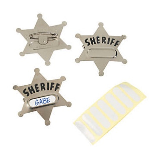 Sheriff Badge Metal 9006M 12 PACK