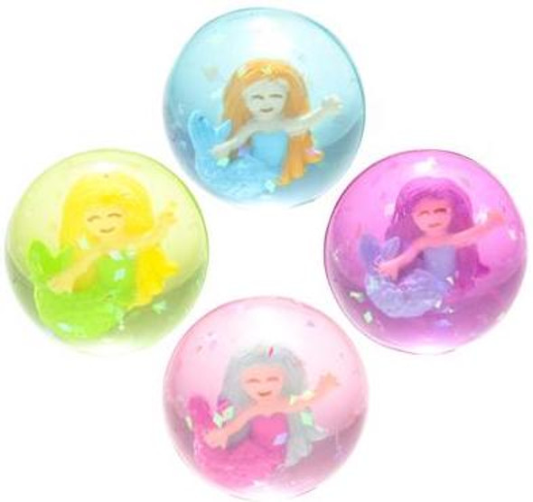 "12 PACK 1.75"" MERMAID BOUNCING BALLS"