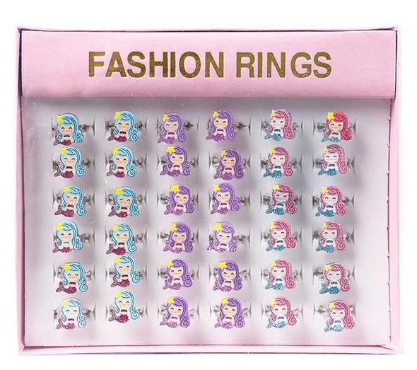 "36 PACK 0.50"" MERMAID RINGS M2010"