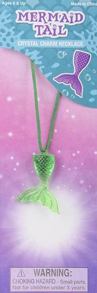 12 PACK MERMAID TAIL CRYSTAL CHARM NECKLACES M2011