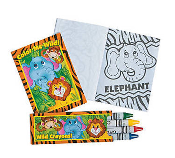 Mini Zoo Animal Coloring Sets 12 PACK 38436