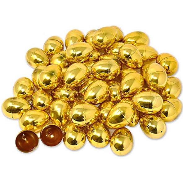 Bulk 12 PCS Gold Easter Eggs 1863GOLD
