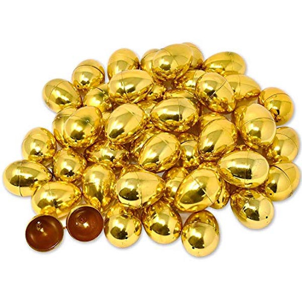 Bulk 12 PCS Gold Easter Eggs 1863GOLD