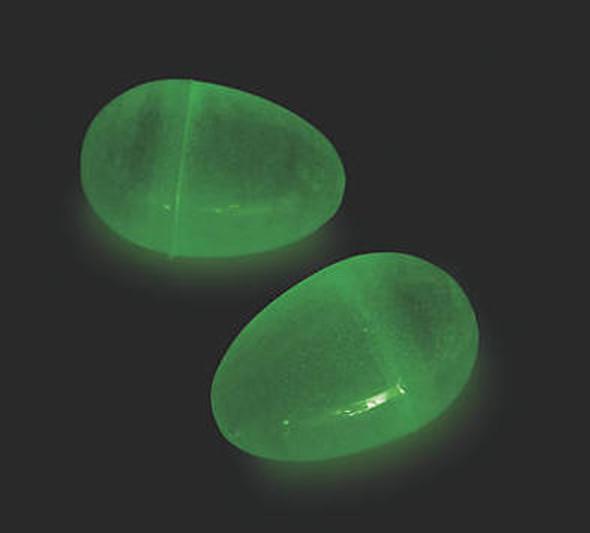 """24 PACK Jumbo Glow in Dark Easter Eggs 3"""" 1863GLOW"""