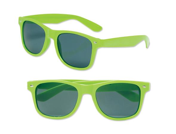 Kids Sunglasses | Neon Green Iconic 80's Sunglasses 100% UV  12 PACK 13005
