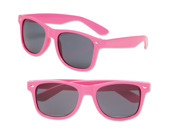 Girls Sunglasses | Kids Neon Pink Iconic 80's Sunglasses 100% UV 12 PACK 13006