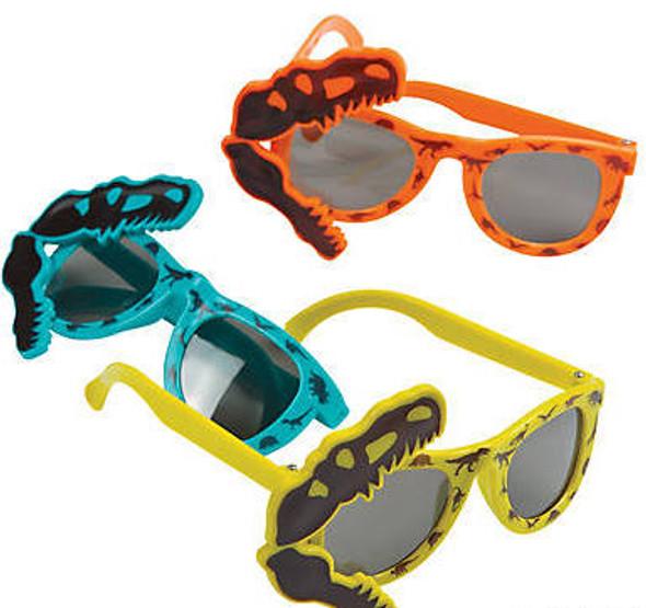Kids Dinosaur Sunglasses 12 PACK MIX Colors Party Favor Quality Ages 3-9 | 382