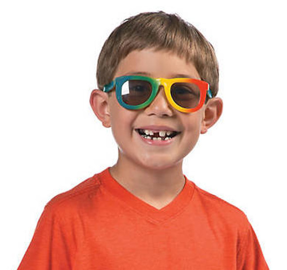 Kids Rainbow Sunglasses 12 PACK  Party Favor Quality Ages 3-9 | 385