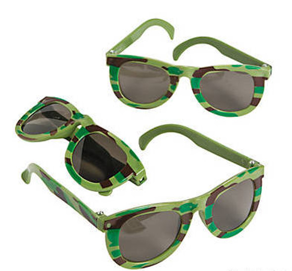 Kids Camoflauge Sunglasses 12 PACK Party Favor Quality Ages 3-9 | 391