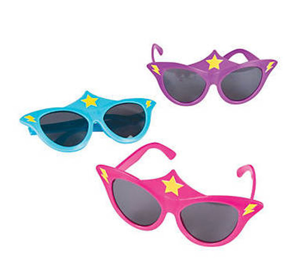 Kids Superhero Girls Sunglasses 12 PACK Mixed Colors Ages 3-9 | 395