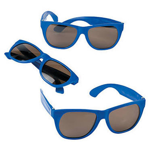 Kids Blue Sunglasses 12 PACK Party Favor Quality Ages 3-9 | 397