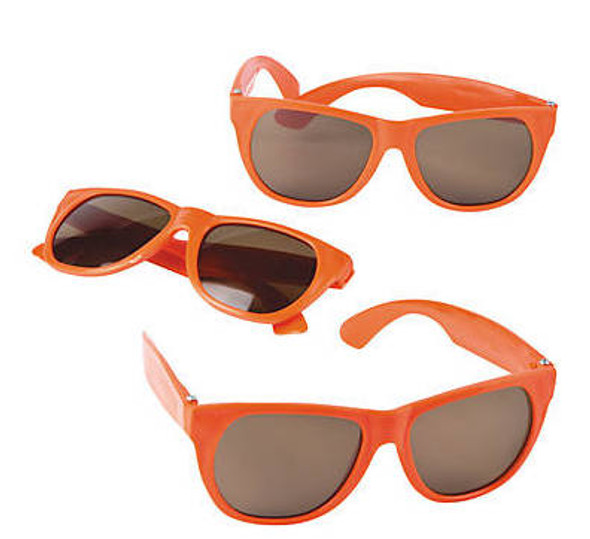 Kids Orange Sunglasses 12 PACK Party Favor Quality Ages 3-9 | 398