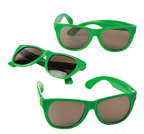 Kids Green Sunglasses 12 PACK Party Favor Quality Ages 3-9 | 399