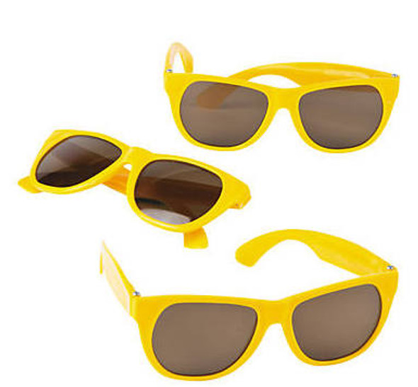 Kids Yellow Sunglasses 12 PACK Party Favor Quality Ages 3-9 | 400