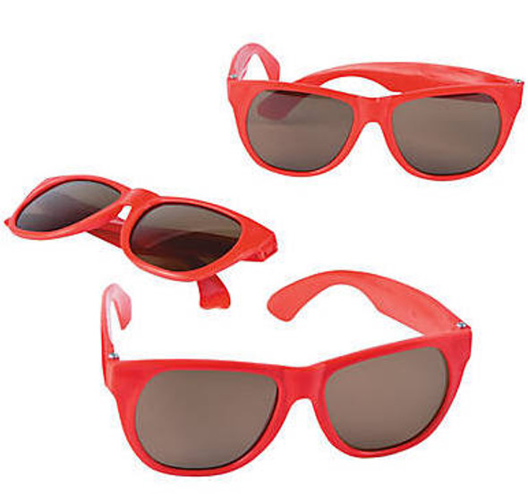 Kids Red Sunglasses 12 PACK Party Favor Quality Ages 3-9 | 401