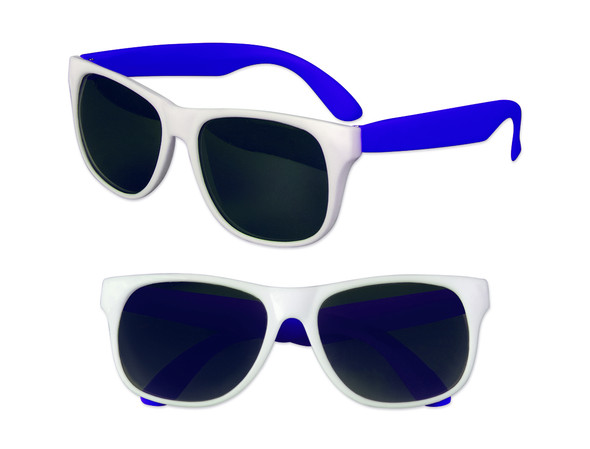 White Sunglasses Blue Legs 12 PACK Party Favor Quality 413