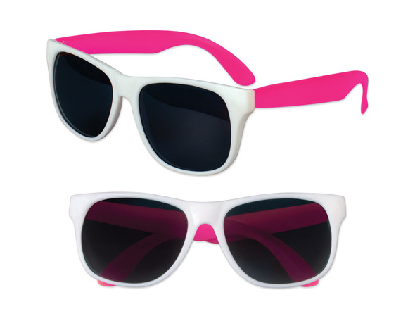 White Sunglasses Pink Legs 12 PACK Party Favor Quality 415