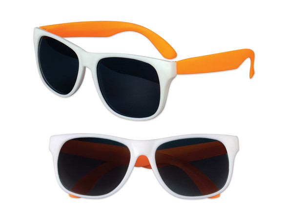 White Sunglasses Orange  Legs 12 PACK Party Favor Quality 416