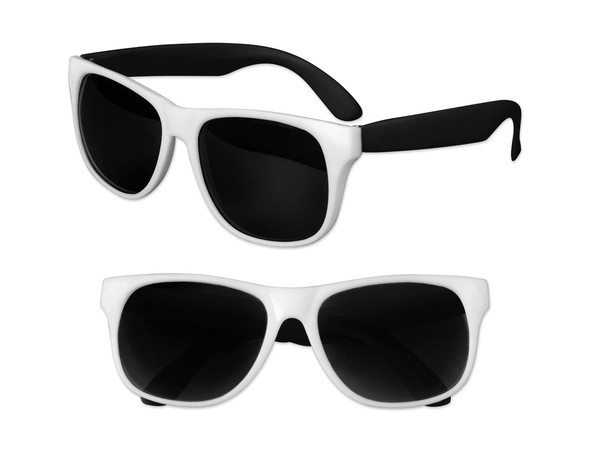 White Sunglasses Black Legs 12 PACK Party Favor Quality 419