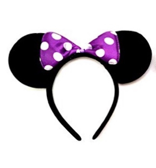 Minnie Ears w/ Purple Polka Dot Bow | 15003MPUR