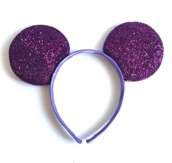 Purple Mickey Ears Glitter  | 15003PUR