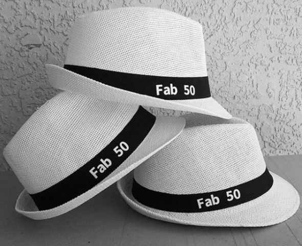 50th Birthday Hat | Custom Hat for 50th Birthday Party