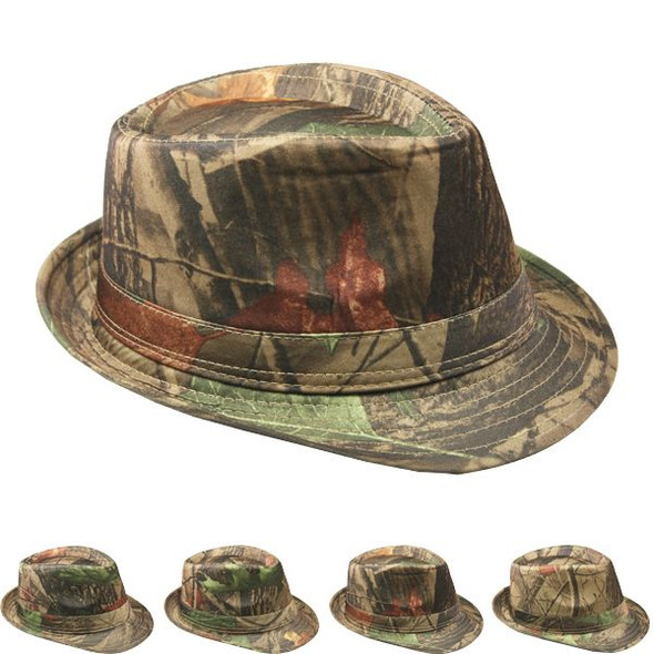 Hunting Fedora Hats 12 PACK 1310HU Adult Size