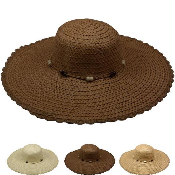 Ladies Sun Hats Mixed Colors 12 PACK 12544D
