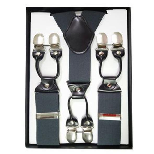 "Grey Industrial Suspenders   Adjustable up to 60"" 15034 GREY"
