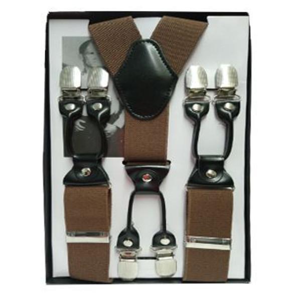 "Brown Industrial Suspenders   Adjustable up to 60"" 15034BR"