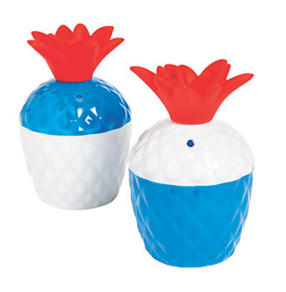 Patriotic Pineapple Cups with Lids 12 PACK