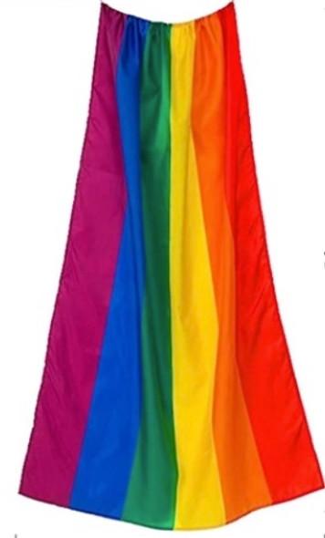 12 PACK  Wearable Rainbow Gay Pride Flags 3' X 5' FT 9102WE