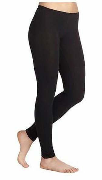 Premium Black Opaque Footless Leggings Cotton/Polyester 12 PACK 8094D