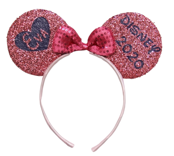 Valentines Day Disney Ears Headband Personalized