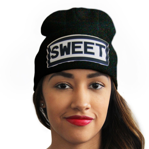 Sweet Hats | Sweet Beanies | Slang Beanies  Ribbed Comfort Knit Hats 10+ Colors 10533