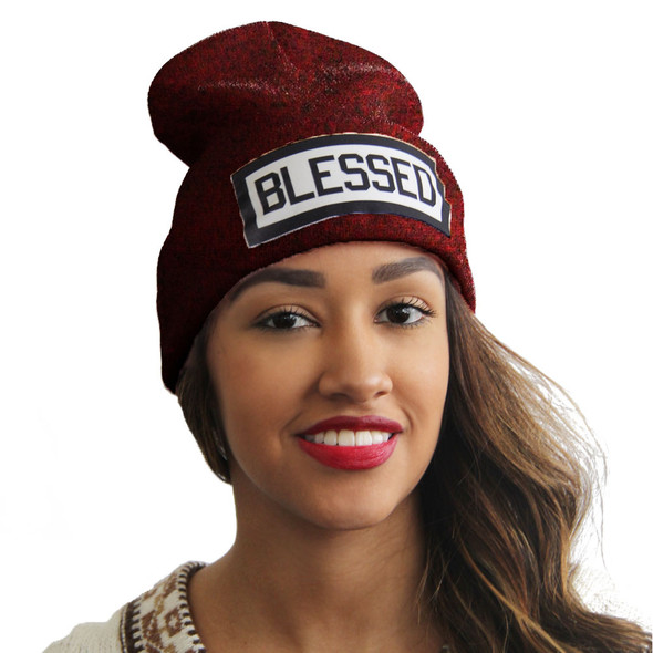 Blessed | Blessed Hats | Slang Beanies®  Ribbed Comfort Knit Hats 10+ Colors