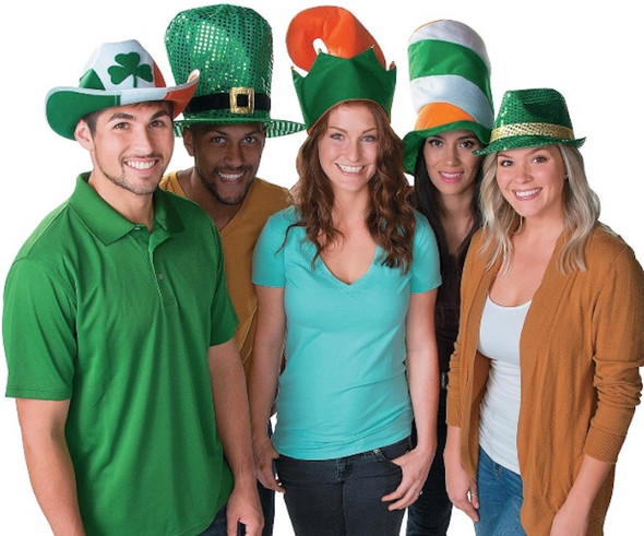 St. Patrick's Day Novelty Hat Assortment |  12 PACK 5853A